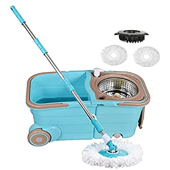 Amazon Com Spin Mop Bucket With Wringer Deluxe