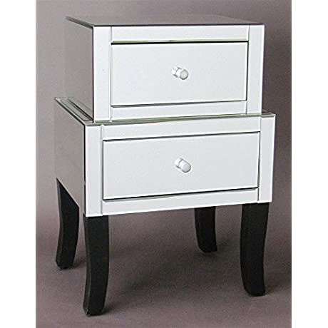 Wayborn 2 Drawer Beveled Mirrored Chest 770189 2
