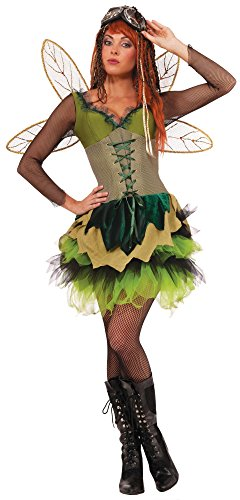 Fairytale Dresses For Adults (Forum Novelties Women's Steampunk Fairytales Sprocket Pixie Costume, Green, Medium/Large)