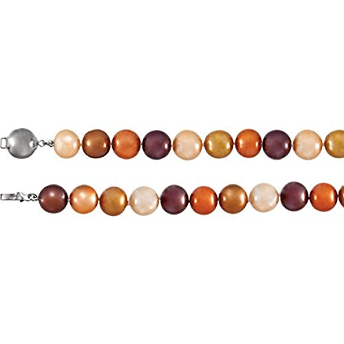 Sterling Silver Freshwater Cultured Dyed Chocolate Pearl 18 ()