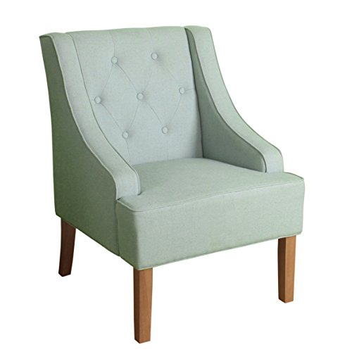 HomePop Kate Tufted Swoop Arm Accent Chair, Light - Match Accent Chair