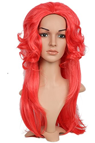 [Medusa Wig Red Cosplay Curled Hair Costume Accessories Props Halloween Coslive] (Medusa Costumes Wig)
