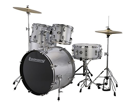 "Ludwig 5 Piece Accent ""Drive"" Drum Set (Silver Foil)"