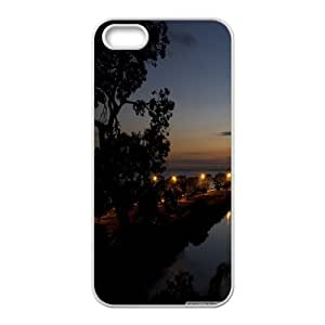 Iphone 5/5S Case road by the sea White tcj525048 tomchasejerry