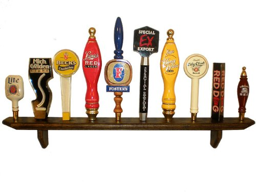 10 Place Wall Hanging Tap Handle Display, Ebony