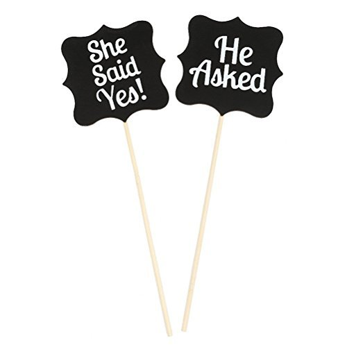 - Pixnor Wooden Wedding Signs She Said Yes Sign Accessories Photo Props Kits
