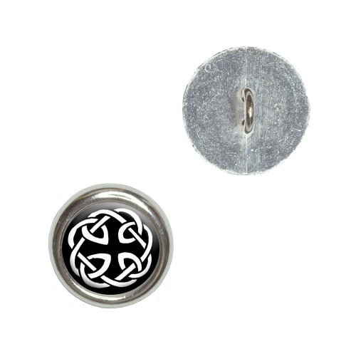 Celtic Knot Metal Craft Sewing Novelty Buttons - Set of 4