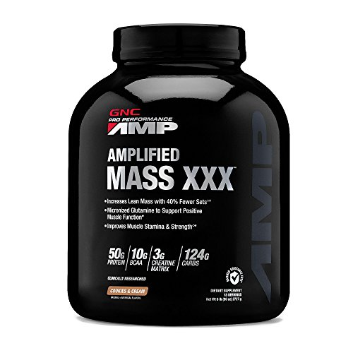 GNC Pro Performance AMP Amplified Mass XXX - Cookies Cream 6.20lb (99.20 oz)