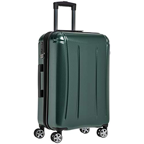 (AmazonBasics Oxford Expandable Spinner Luggage Suitcase with TSA Lock - 28 Inch, Green)