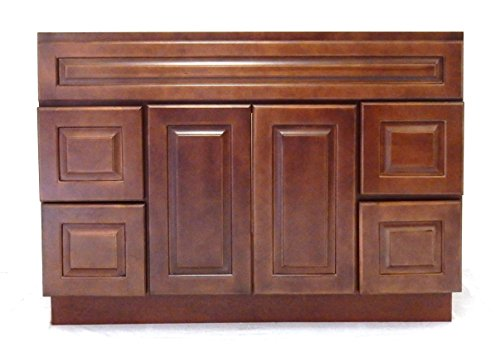 Ngy Chestnut Chocolate Vanity Cabinet Maple Wood, 48″ L Key Pieces