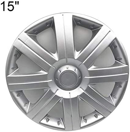 Allrightip 車のホイールカバーユニバーサルフィットハブキャップ車のホイールハブ装飾カバーABSシルバーホイールトリムハブキャップカバープロテクター高衝撃プラスチック簡単な取り付け astounding