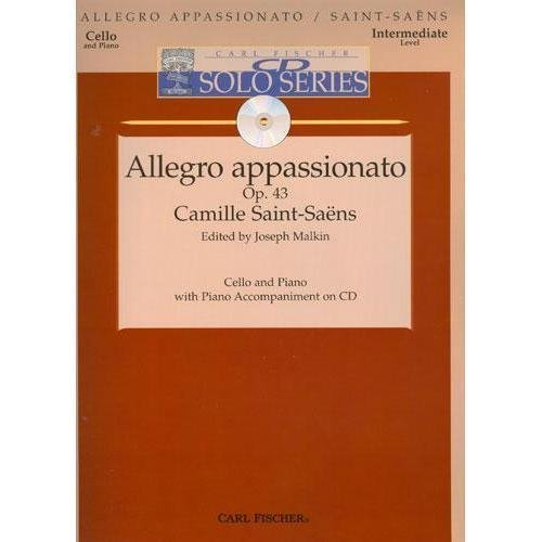 Saint-Saens Camille Allegro Appassionato Op 43 For Cello with CD Intermediate by Carl Fischer