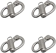 brandname BOOHAO Quick Release Fixed Spring Shackle 1-3/8(35MM)/2''(52MM) Stainless Steel Fixed Bail S