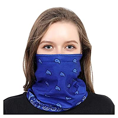 WEISUN Face Cover Magic Scarf Outdoor Headwear Bandana Sports Tube UV Face Cover for Workout Yoga Running Blue: Clothing