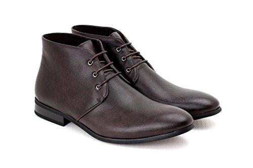 Caballeros Informal Botines Encaje Vestido Formal Zapatos piel sintética Retro Tamaño RU Café