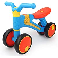 Hapsters Children's Balance Bike 1-3 Years Old Baby Scooter Music Sound and Light Four-Wheeled Walker Baby Riding Toy Car