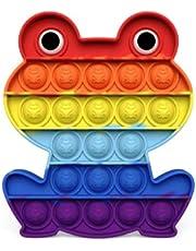 Pop It Fidget Toy Bubble Brinquedo Sensorial AMG Sapo Arco Ìris Silicone
