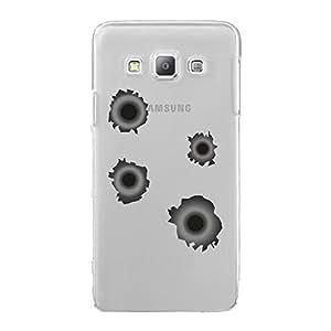 Carcasa rígida transparente para Samsung Galaxy A7con impresión diseño de impactos de pelotas