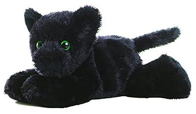 """Aurora ONYX BLACK PANTHER 8"""" Mini Flopsie Plush Beanbag"""