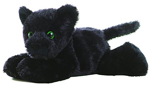 "Aurora ONYX BLACK PANTHER 8"" Mini Flopsie Plush Beanbag"