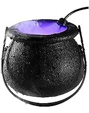 Halloween-heksenketel-mistmaker, Halloween-mistmachine LED-mistmaker-sproeier met LED-licht, Halloween-feestjes-prop-decoratie, kleurveranderende partij-rekwisieten
