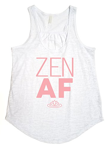 b05a7fb9 Tough Cookie's Women's Flowy Burnout Zen AF Printed Workout Tank Top ...