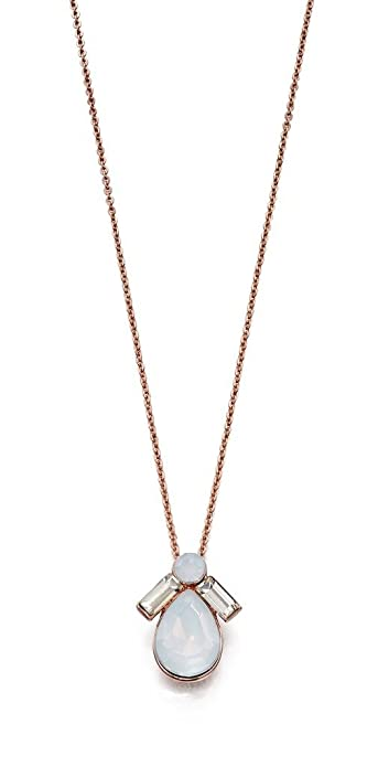 Fiorelli Costume Core Rose and Silver Oval Cut Out Necklace of Length 61.5cm LHhHI