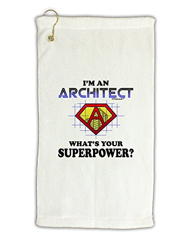 TooLoud Architect - Superpower Micro Terry Gromet Golf Towel 16