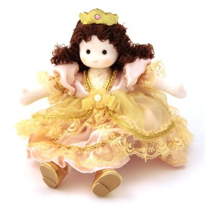 (Green Tree Princess Pea Handmade Musical Doll - Windup to hear Brahm's)