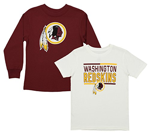 Outerstuff NFL Youth Team Flag Runner Short and Long Sleeve Set, Washington Redskins Large - Washington Short Redskins Youth