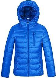 Wantdo Boy's Ultra Lightweight Packable Down Jacket Hooded Warm Winter