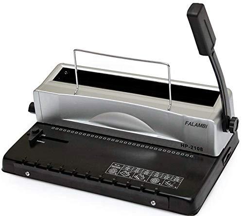 Draht Bindegerä t Falambi HP2108, Bindemaschine fü r Drahtspiralen von 5,5 mm bis 14,3 mm, INKLUSIVE Starterset mit Binderü cken und Einbanddeckeln 22223