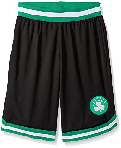 NBA Boston Celtics Men's Mesh Basketball Shorts Woven Active Basic, Large, Black