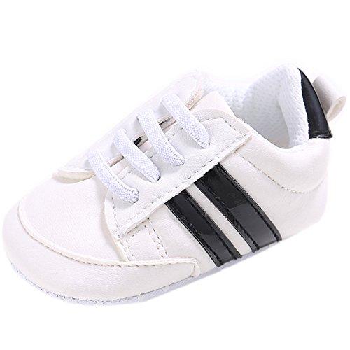 Fire Frog Baby Fashion Sneaker - Zapatos primeros pasos de Piel Sintética para niño negro