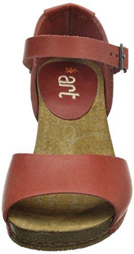 ART I MEET - Sandalias de vestir de cuero para mujer rojo - Rot (GRANADA)