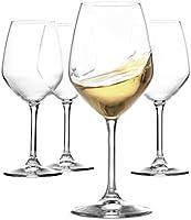 Paksh Novelty Italian White Wine Glasses - 15 Ounce - Lead Free - Shatter Resistant - Wine Glass Set of 4