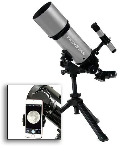 astroventure Blanco portátil 80 mm telescopio Refractor con Universal Smartphone cámara Adaptador: Amazon.es: Electrónica
