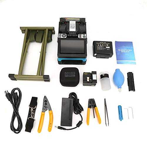 - Automatic 5.0 Inch Color LCD Display TFT Optical Fiber Fusing Splicer Splicing Machine Tool Accessories Set AC 100-240V 300 Times (X or Y)(US)