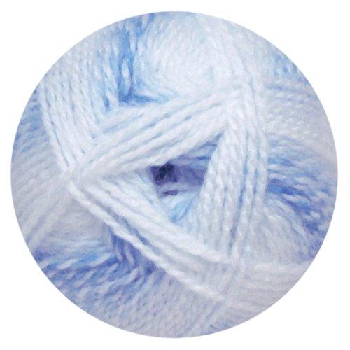 Mary Maxim Sugar Baby Stripes Yarn - Blueberry Ice