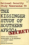 The Kissinger Study of Southern Africa 9780882080727