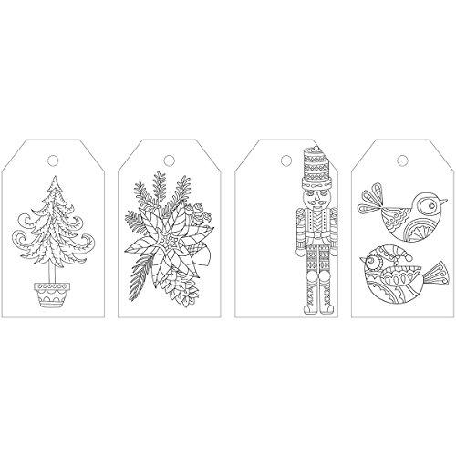 Kaisercraft 'Tis the Season Christmas Kaisercolour Coloring Tag (24/Pack) by Kaisercraft
