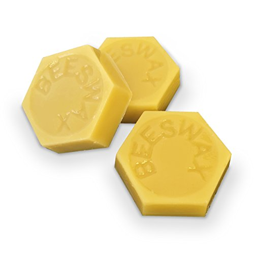 3 - 100% ORGANIC Hand Poured Decorative Beeswax Cakes - 1.0 oz each - Premium Quality, Cosmetic Grade, Triple Filtered Bees Wax