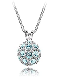 Sparkling Colored Pave Ball Bead Charm Necklace