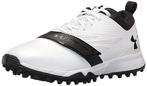 Under Armour Men's Finisher Turf Lacrosse Shoe, White (101)/Black, 5.5 by Under Armour