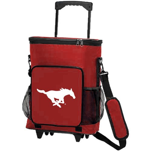SMU 30 Can Red Rolling Cooler Bag 'Official Logo' by CollegeFanGear
