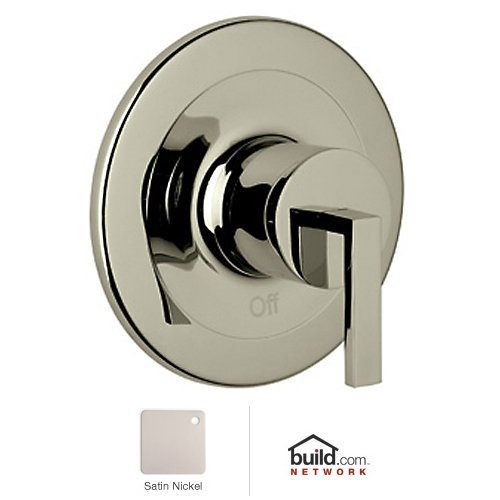 Stn Satin Nickel Wave (Rohl WA100L-STN Wave Trim Kit to Pressure Balance Metal with Lever Handle & without Diverter, Satin Nickel by Rohl)