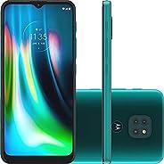 "Smartphone Motorola XT2083 Moto G9 Play 64GB Verde Turquesa Tela 6.5"" Câmera 48 MP 2 MP"
