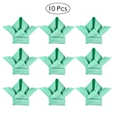10Pcs Durable Dinner Napkins with Wave Lace Dining Table Decorations for Restaurant Coffee Home (Tiffany Blue)