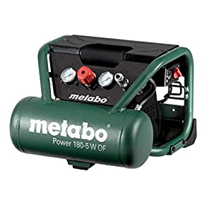 Metabo 601531000 601531000-Compresor Power 180-5 W of Potencia 1,1/1,5 (Kw/CV), Negro