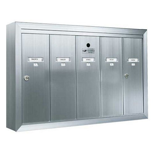 Mailbox Surface Mounted Vertical 5-Gang - 12505SMSHA